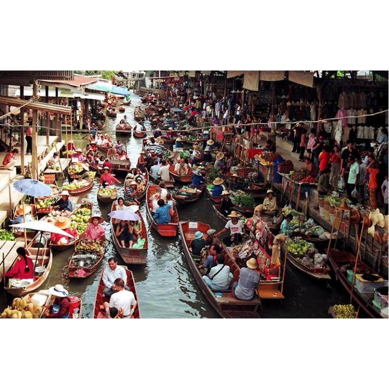 Плавучий рынок в Бангкоке - фото 4 - 001.by